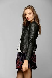 leather moto jacket urban outfitters muubaa abila quilted leather moto jacket in black