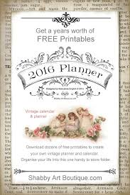 free printable planner 2016 australia more free printables for the 2016 planner shabby art boutique