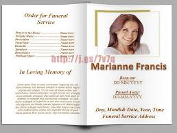 Free Funeral Programs Free Funeral Program Templates