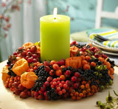 ideas for thanksgiving centerpieces decorations white candle light thanksgiving centerpiece