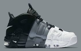 nike air more uptempo tri color black grey white release date
