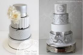 fresh 25th wedding anniversary cake with silver anniversary cakes