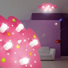 lumiere pour chambre nuage luminaire de plafond led enfant le ciel étoilé
