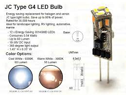 jc type g4 led bulb replacement white