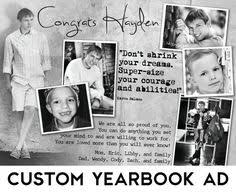 senior yearbook ad templates yearbook ad template 6 images purchase add by suzibeedesigns