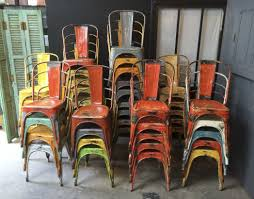 chaise tolix ancienne industrial vintage tolix chairs by xavier pauchard colourful