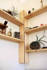 corner shelves plans pallet corner shelf plans pallet wood
