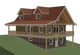 walkout ranch house plans uncategorized hillside lake house plan amazing inside awesome