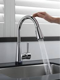 touch activated kitchen faucet touch activated kitchen faucet delta pilar pull with in