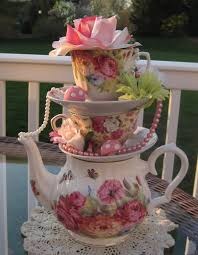 Mad Hatter Tea Party Centerpieces by Stacked Floral Teapot Teacup Centerpiece Pastels 2 Pearls