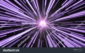 purple lights flying past high speed stock illustration 473192035