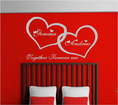 room archives custom designscustom designs personalised love hearts bedroom vinyl wall art stickers