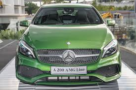 green mercedes a class mercedes benz a class facelift debuts a180 urban line a200 amg