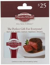 omaha steaks gift card omaha steaks gift card 25 gift cards