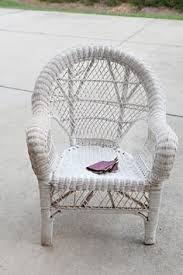 Cheap Wicker Chairs How To Repaint Wicker Furniture I Just Bought A Cool Old Wicker