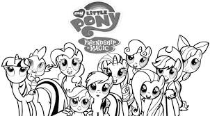 pony friendship magic coloring pages free