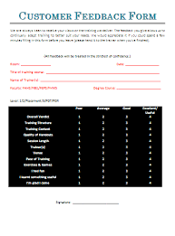 customer feedback form a to z free printable sample forms