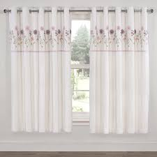 Thermal Curtain Liner Eyelet by Imogen White Luxury Embroidered Thermal Eyelet Curtains Pair