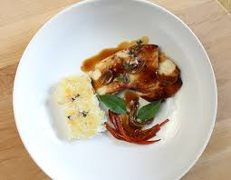 gastrique cuisine chicken with crispy rice and a honey soy gastrique epicure s table