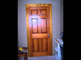 Pre Stained Interior Doors by Stained Solid Pine Door Youtube
