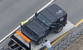 jeep wrangler pickup spotted testing 2018 jl jeep wrangler spotted broken down during testing jk forum