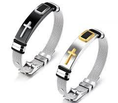 men jewelry bracelet images China classic cross bracelet men jewelry stainless steel mesh jpg