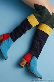 womens knee high boots nz fashion anthropologie novelty colorblock knee high boots for