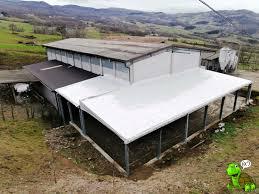 tettoia in ferro tettoie in ferro copertura in pvc industriale modena