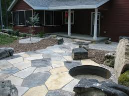 Rock Patio Design Awesome Patio Designs With Pit Flagstone Patio With