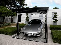 porsche home garage innovative space saving underground home parking solutions