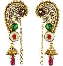 gold kaan earrings flipkart buy swanvi peacock kaan alloy drop earring online
