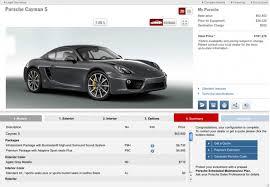 cayman s porsche price porsche launches 2014 cayman configurator site