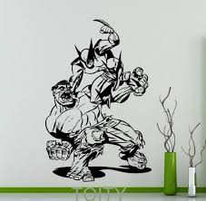 compare prices on wall murals hulk online shopping buy low price wolverine hulk poster black wall decal superhero comics vinyl sticker home boy room interior decoration nursery