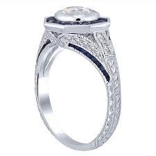 bezel set engagement ring solomon brothers octagonal design bezel set engagement ring with