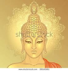 Decorative Buddha Head Buddha Head Over Ornate Mandala Round Stock Vector 518744029