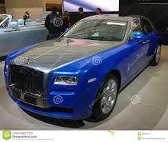 roll royce blue blue gray rolls royce ghost editorial photo image 30653341