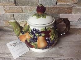 homco home interiors better home u0026 garden sonoma villa teapot nib