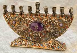 hanukkah menorahs handmade menorahs with semi precious stones by michal golan