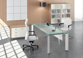 table de bureau en verre meuble bureau verre myfrdesign co