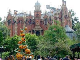 tokyo disneyland haunted mansion on halloween by carnichiwa com