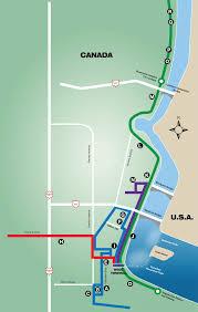 Niagra Falls Map Wego Bus Route Map Marriott Niagara Falls Hotel