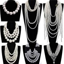 chunky necklace pearl images Chunky pearl necklace ebay jpg