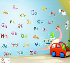 can remove the wall stickers baby english letters wall paper wall