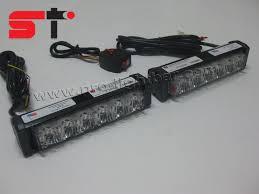 led strobe light kit 3w tir6 led lighthead car grille strobe light kit suteer emergency