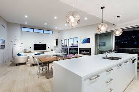 plush white interior home idea with stylish ceiling fixtures also