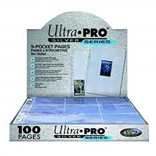 9 pocket pages ultra pro 9 pocket silver series pages for standard