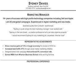 resume summary exles marketing resume summary exles hospitality statement exle