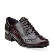 hamble oak burgandy leather clarks womens shoes womens heels