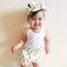 baby headwrap gold polka dot shorties bloomers and topknot headwrap baby
