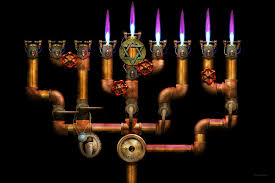buy a menorah steunk plumbing lighting the menorah photograph by mike savad